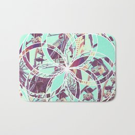 Los Angeles Ferris Wheel Abstract Mosaic Bath Mat