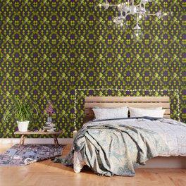 Harlequin Mardi Gras pattern Wallpaper