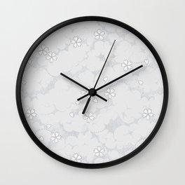Kumori Nochi Sakura: Gray Wall Clock