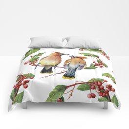 Cedar Waxwing Love Comforters
