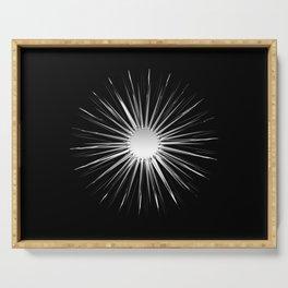Star power (sharp steel rays) Serving Tray