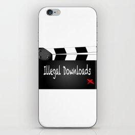 Illegal Downloads Clapperboard iPhone Skin