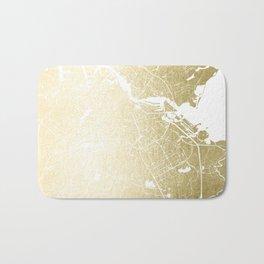 Amsterdam Gold on White Street Map Bath Mat
