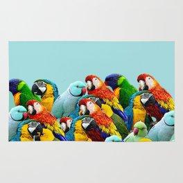 Sky blue parrots home decor Rug