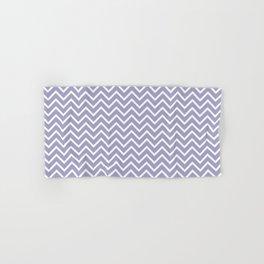 Lavender & White Chevron Pattern Hand & Bath Towel