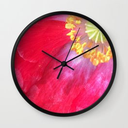 red flower 3 Wall Clock