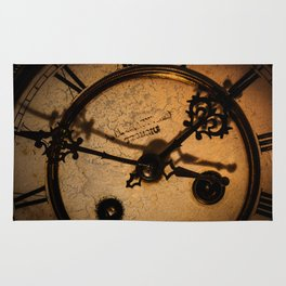 The Clock The Time  Rug