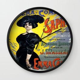 Vintage poster - Sapho Wall Clock