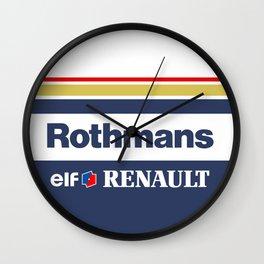 Williams F1 Rothmans Ayrton Senna Wall Clock