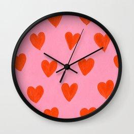 Love Hearts Wall Clock