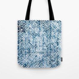 Boho Blue Shibori Tribal Pattern Tote Bag