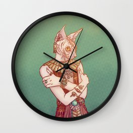 Safiya The Sphynx Cat Wall Clock