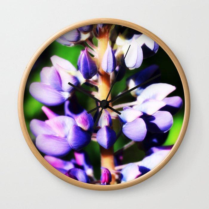 Lupine close up Wall Clock