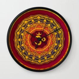 OM MANDALA BY ILSE QUEZADA Wall Clock