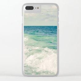Tropical Beach Bliss Clear iPhone Case