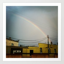 Bayview rainbow Art Print