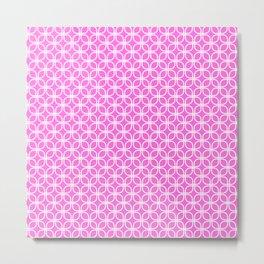 Trellis_Pink Metal Print
