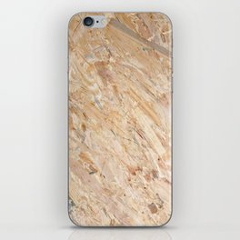 Wooden flakeboard iPhone Skin