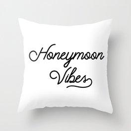 Honeymoon Vibes Newlywed Design Throw Pillow