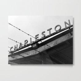 Charleston Barbed Wire Metal Print
