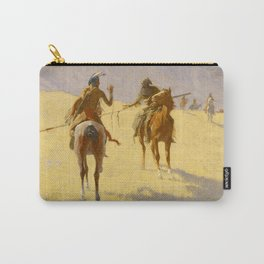 """Frederic Remington Western Art """"The Parley"""" Carry-All Pouch"""