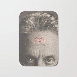 Wall Street, alternative movie poster, Gordon Gekko, Oliver Stone, film, minimal fine art playbill Bath Mat