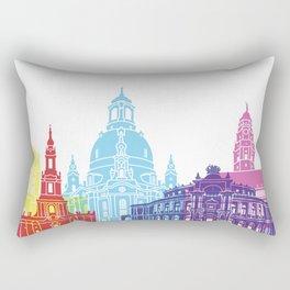 Dresden skyline pop Rectangular Pillow