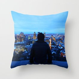 The guy at Mont Royal - Montreal, Canada Throw Pillow