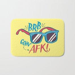 brb/afk Bath Mat
