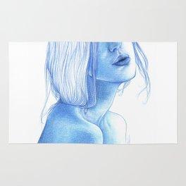 Blue skin Rug