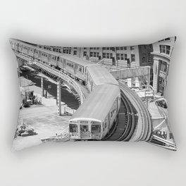Brown Line Rectangular Pillow