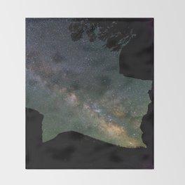 Galaxy Gazing Throw Blanket
