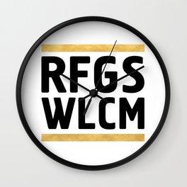 RFGS WLCM - Refugees Welcome Wall Clock
