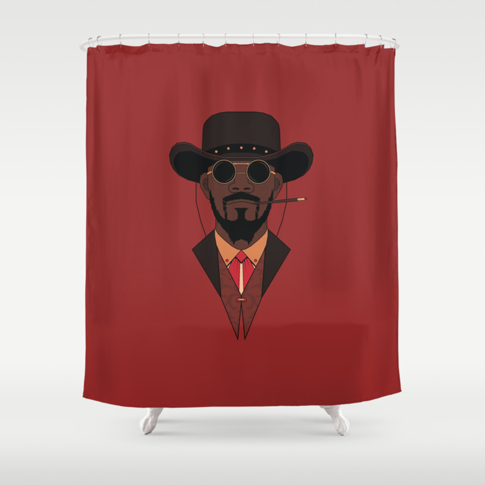 Django Shower Curtain by Woahjonny CTN8913780
