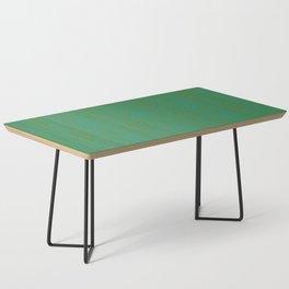 Doors & corners op art pattern in olive green and aqua blue Coffee Table