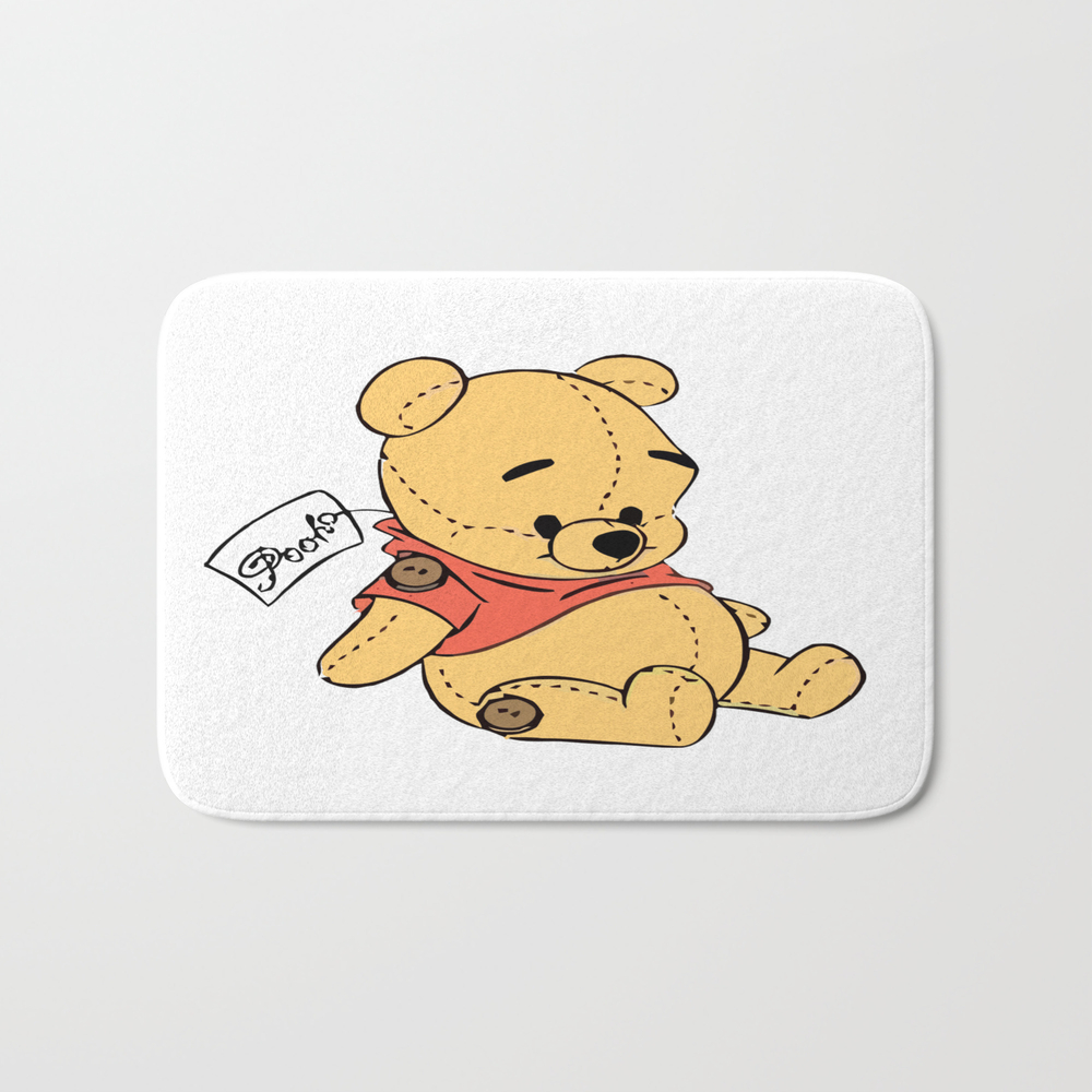 Winnie The Pooh Plush Toy Bath Mat by Danmargs BMT9137764