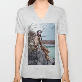 Native Girl Unisex V-Neck