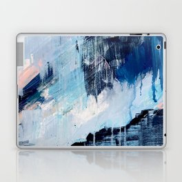 Vibes: an abstract mixed media piece in blues and pinks by Alyssa Hamilton Art Laptop & iPad Skin