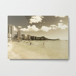 Waikiki Honolulu Oahu Hawaii Metal Print