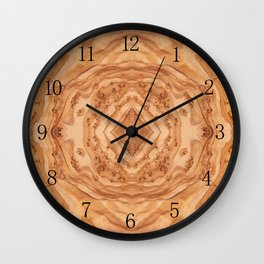 Olive wood surface texture abstract Wall Clock
