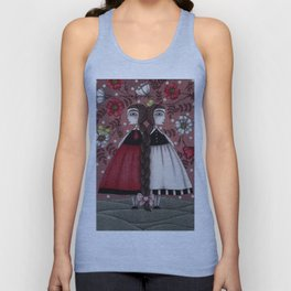 Snow-White and Rose-Red (1) Unisex Tank Top