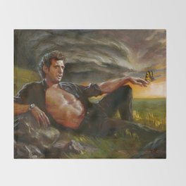 Ian Malcolm: From Chaos Throw Blanket