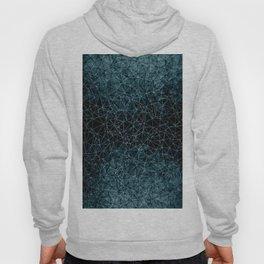 Polygonal blue and black Hoody