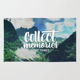 Collect Memories not Things Rug