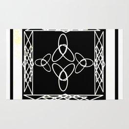 Celtic Deco Black and White Rug