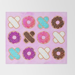 XOXO Donuts Throw Blanket
