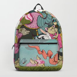 Cute animals parade, inspired by Orwell's Animal Farm but sweet Backpack