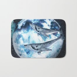 Flying Whales Bath Mat