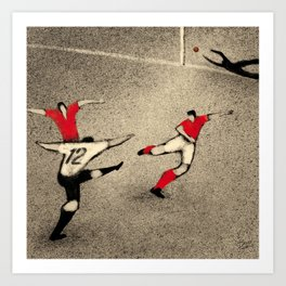 History of Football - 1954 Art Print