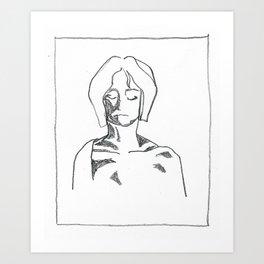 girl. Art Print